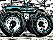 Road Roller Digital Art - Big Wheels by George Pedro