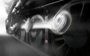 Train Prints - BIG WHEELS in Motion Print by Mike McGlothlen