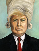 Wigs Posters - Big Wig Part 1 Poster by Leah Saulnier The Painting Maniac