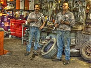 Car Repairs Prints - Big Wrenches Print by William Fields