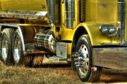 Dump Truck Framed Prints - Big Yellow Truck Framed Print by Frank Garciarubio