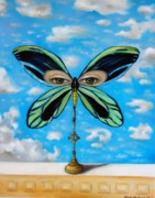 Alexandria Paintings - Biggest Butterfly of the World by Leah Saulnier The Painting Maniac