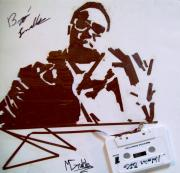 Tape Mixed Media - Biggie Smalls by Mike Grubb
