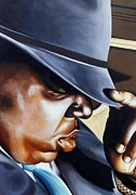 Rapper Paintings - Biggie by T Fischler