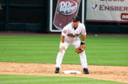 Astros Photos - Biggio at Second by Teresa Blanton