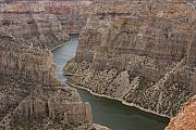 Red River Photo Framed Prints - Bighorn Canyon Framed Print by Idaho Scenic Images Linda Lantzy