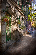 Brownstone Art - Bike - NY - Greenwich Village - The green district by Mike Savad