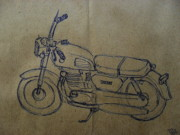 Two Wheeler Drawings - Bike 02 by Mohd Raza-ul Karim