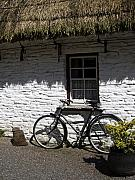 County Clare Framed Prints - Bike at the Window County Clare Ireland Framed Print by Teresa Mucha