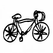Bike Drawing Print by Karl Addison