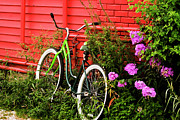 Ladies Bike Photos - Bike On A Wall by Tom Singleton