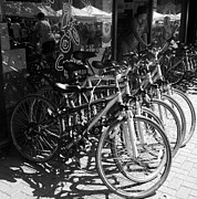 Bike Riding Digital Art - Bike Store in Black and White by Harry Tart