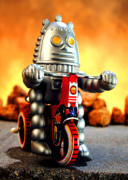 Tricycle Prints - Biker Bot Print by L S Keely