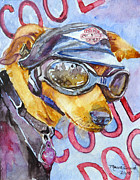 Harley Davidson Paintings - Biker Weiner by P Maure Bausch