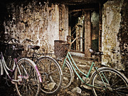 Asian Culture Prints - Bikes and a Window Print by Skip Nall