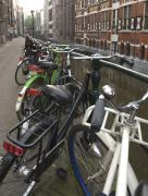 Canal Photo Prints - Bikes as far as the eye can see Print by Andy Smy