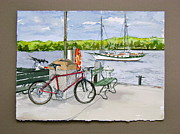Bikes At Fish Creek Print by Laurel Fredericks
