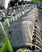 Baskets Photos - Bikes for Hire by Yali Shi