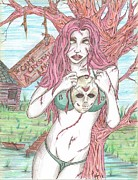 Evil Drawings Originals - Bikini Jason by Michael Toth