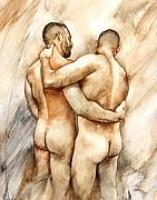 Male Nude Art Posters - Bill and Mark Poster by Chris  Lopez