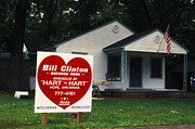 Bill Clinton Posters - Bill Clintons Boyhood Home Poster by Carl Purcell