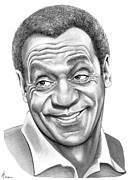 Graphite Portrait Drawings - Bill Cosby by Murphy Elliott