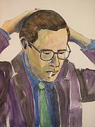 Player Mixed Media Metal Prints - Bill Evans Metal Print by Anita Burgermeister