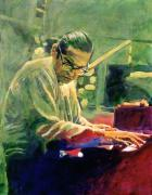 Music Legend Metal Prints - Bill Evans Quintessence Metal Print by David Lloyd Glover