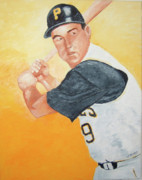 Allstar Metal Prints - Bill Mazeroski Metal Print by William Bowers