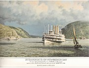Towboat Framed Prints - Bill Muller 1975 Print Collection Framed Print by Jake Hartz
