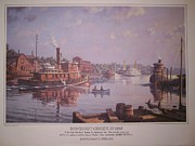 Towboat Framed Prints - Bill Muller prints 1975 Framed Print by Jake Hartz