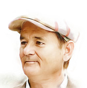 Silver Screen Legend Prints - Bill Murray Print by Arne Hansen