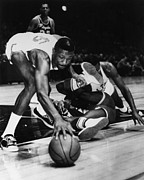 Los Angeles Lakers Metal Prints - Bill Russell (1934- ) Metal Print by Granger