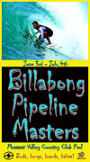 Pipeline Masters Posters - Billabong Pool Surfing Poster by Scott T