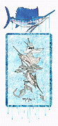 Beach Art Mixed Media Posters - Billfish Adventure Poster by William Depaula