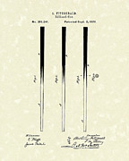 Fitzgerald Posters - Billiard Cue 1879 Patent Art Poster by Prior Art Design