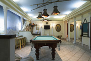 Empty Pool Framed Prints - Billiard Table in a Lounge Framed Print by Magomed Magomedagaev