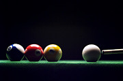 Pool Balls Posters - Billiard Poster by Tony Cordoza