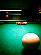Cue Ball Posters - Billiards 01 Poster by Michael Knight