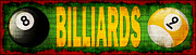 Billiard Digital Art Prints - Billiards Print by David G Paul