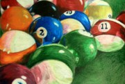 Colored Pencil Framed Prints - Billiards Time Framed Print by Robert Hodgson