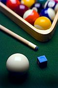 Blue Table Framed Prints - Billiards Framed Print by Tony Cordoza