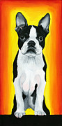 Boston Terrier Art Paintings - Billie by Debbie Brown