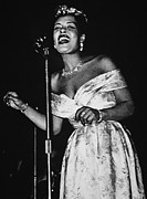 African American Photo Prints - Billie Holiday Print by American School