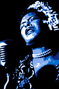 African American Digital Art Metal Prints - Billie Holiday Metal Print by DB Artist