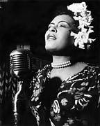 Billie Holiday Prints - Billie Holiday Print by Everett