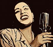 Blues Glass - Billie Holiday by Jeff DOttavio