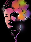 African American Metal Prints - Billie Holiday Metal Print by Paul Sachtleben