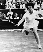 Wimbledon Prints - Billie Jean King (1943- ) Print by Granger