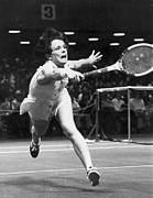 Sportswoman Photo Framed Prints - Billie Jean King Framed Print by Granger